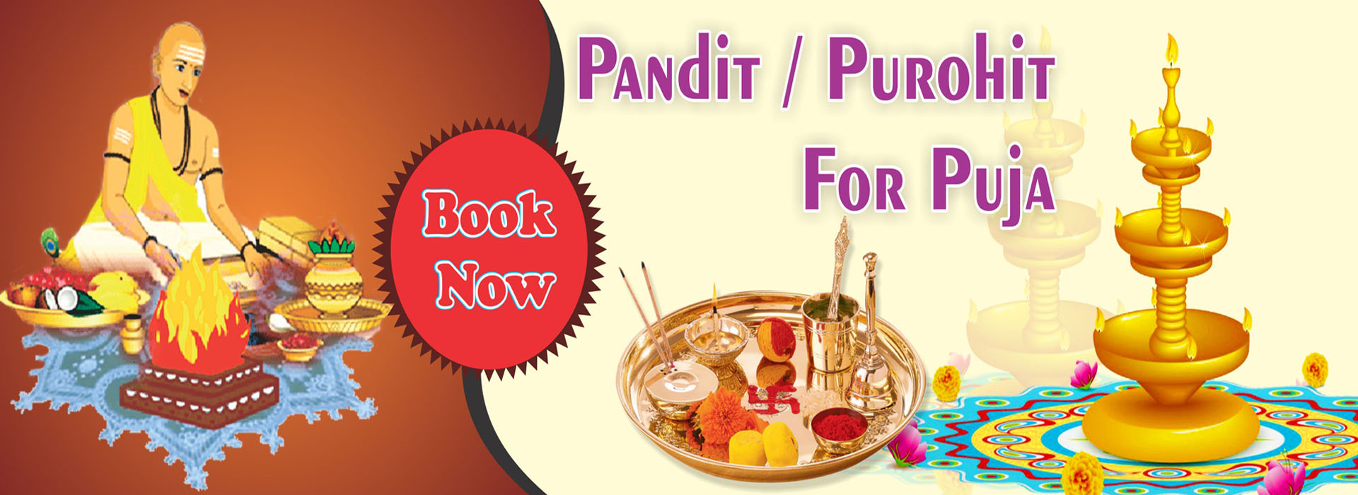 Book Pandit & Purohit for Puja on Bhagwanbhajan.com