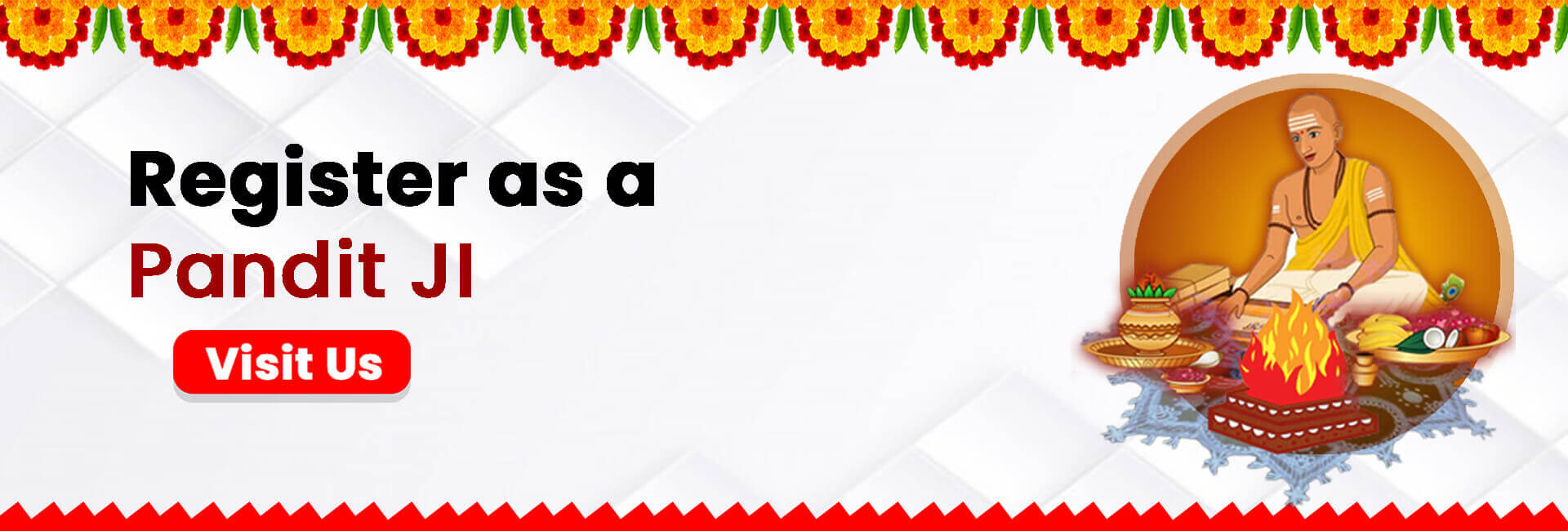 Register as a Pandit & Purohit online on bhagwanbhajan and get customers