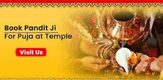 book pandit ji for puja at temple