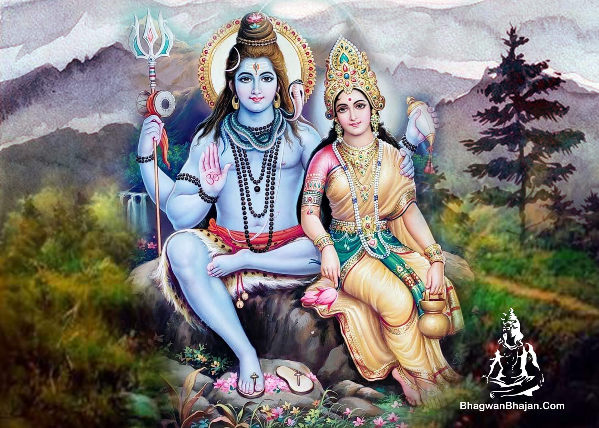 bhagwan shiv mata parvati kailash parvat wallpaper