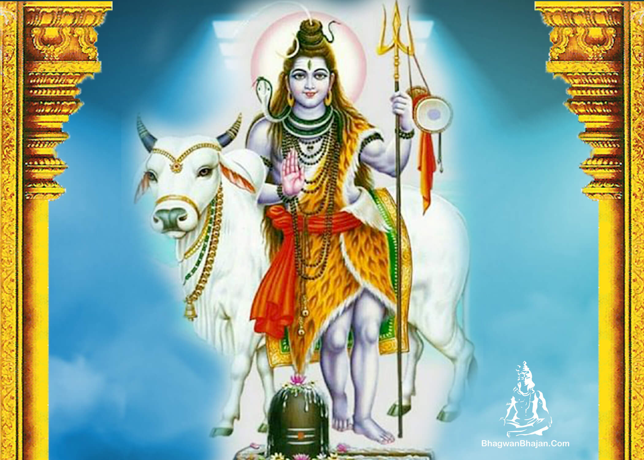 bhagwan shiv nandi hd wallpaper
