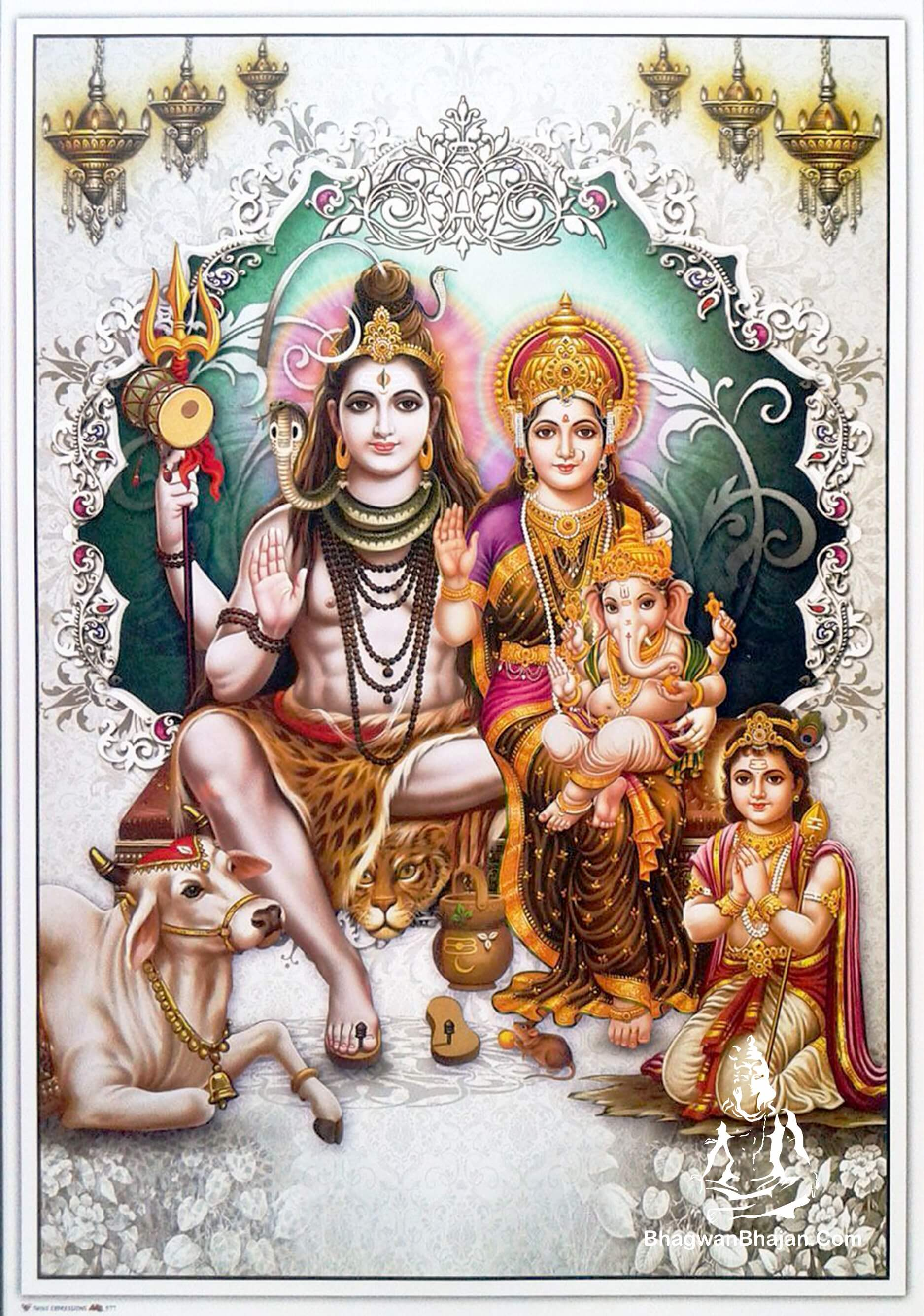 bhagwan shiv parivar wallpaper