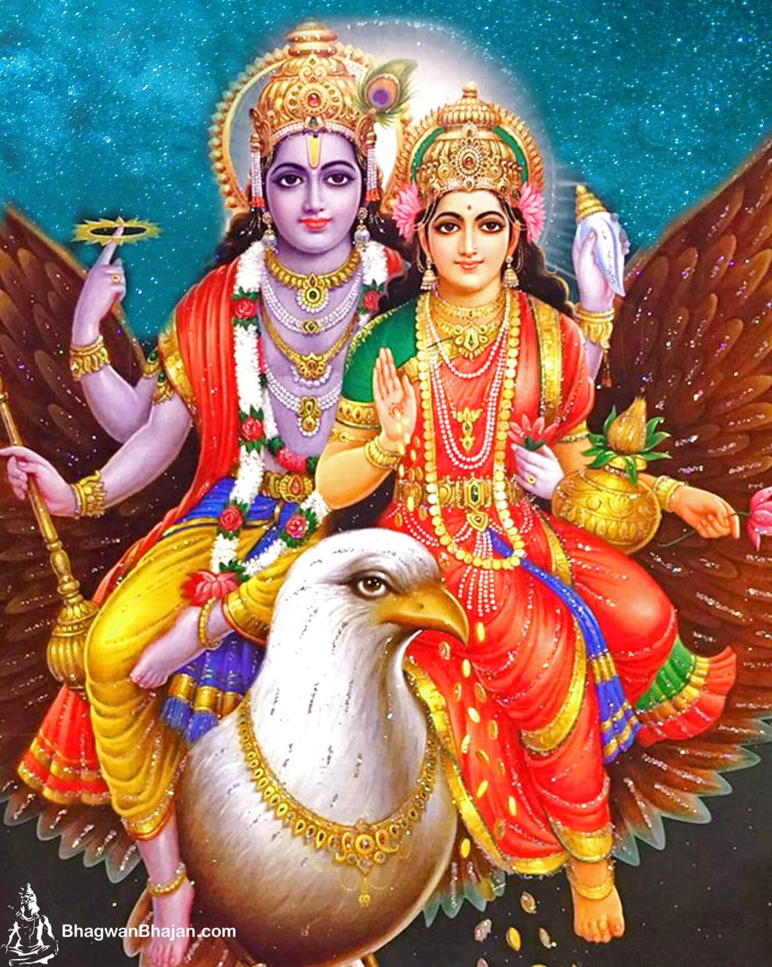 Bhagwan Vishnu and Lakshmi Mata New Wallpaper