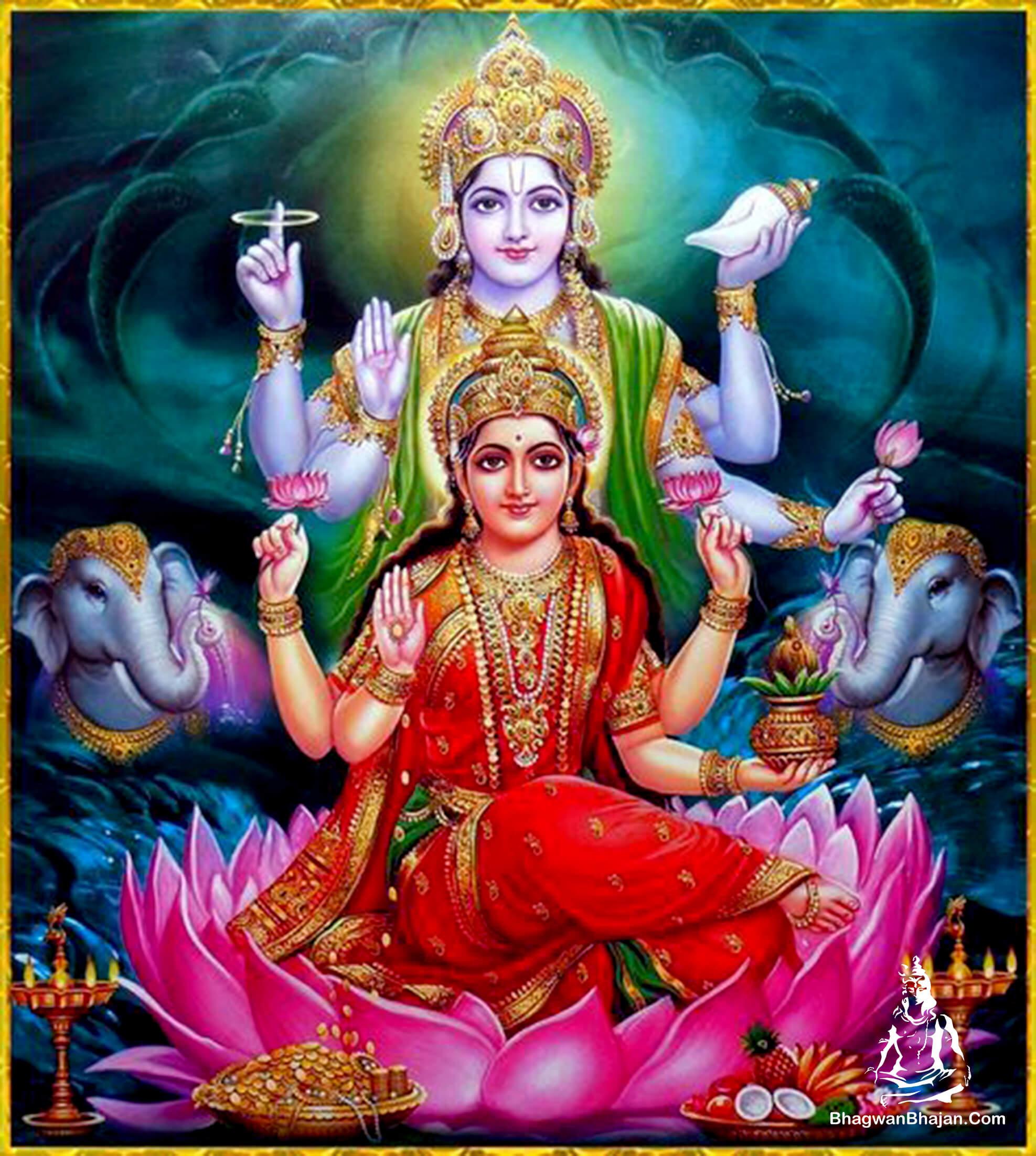 bhagwan vishnu and- lakshmi ji hd wallpaper