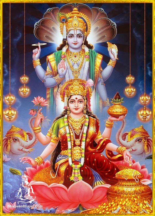 bhagwan vishnu maa lakshmi hd wallpaper