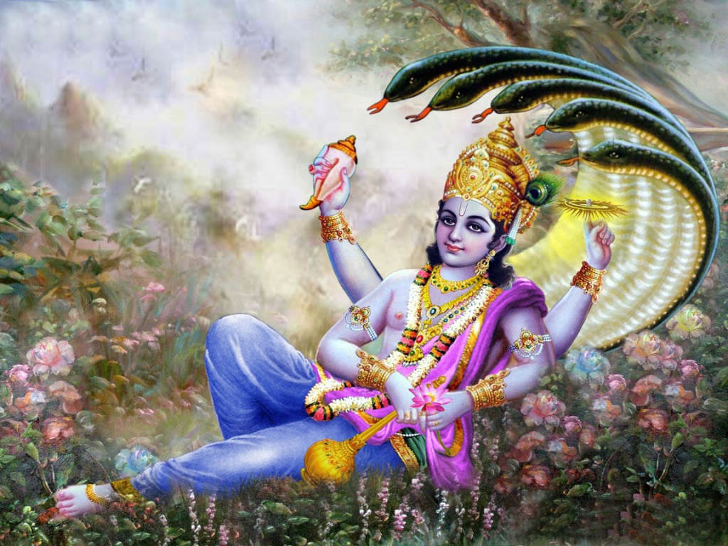 Bhagwan vishnu ji high resolution wallpaper