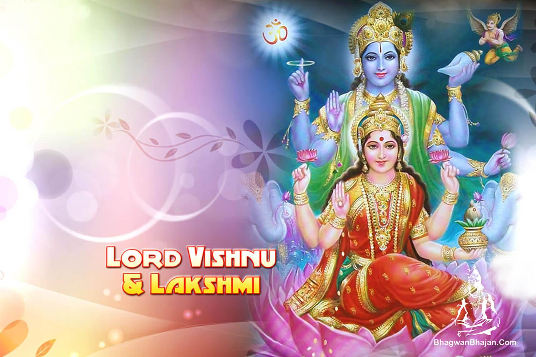lord vishnu and maa lakshmi wallpaper