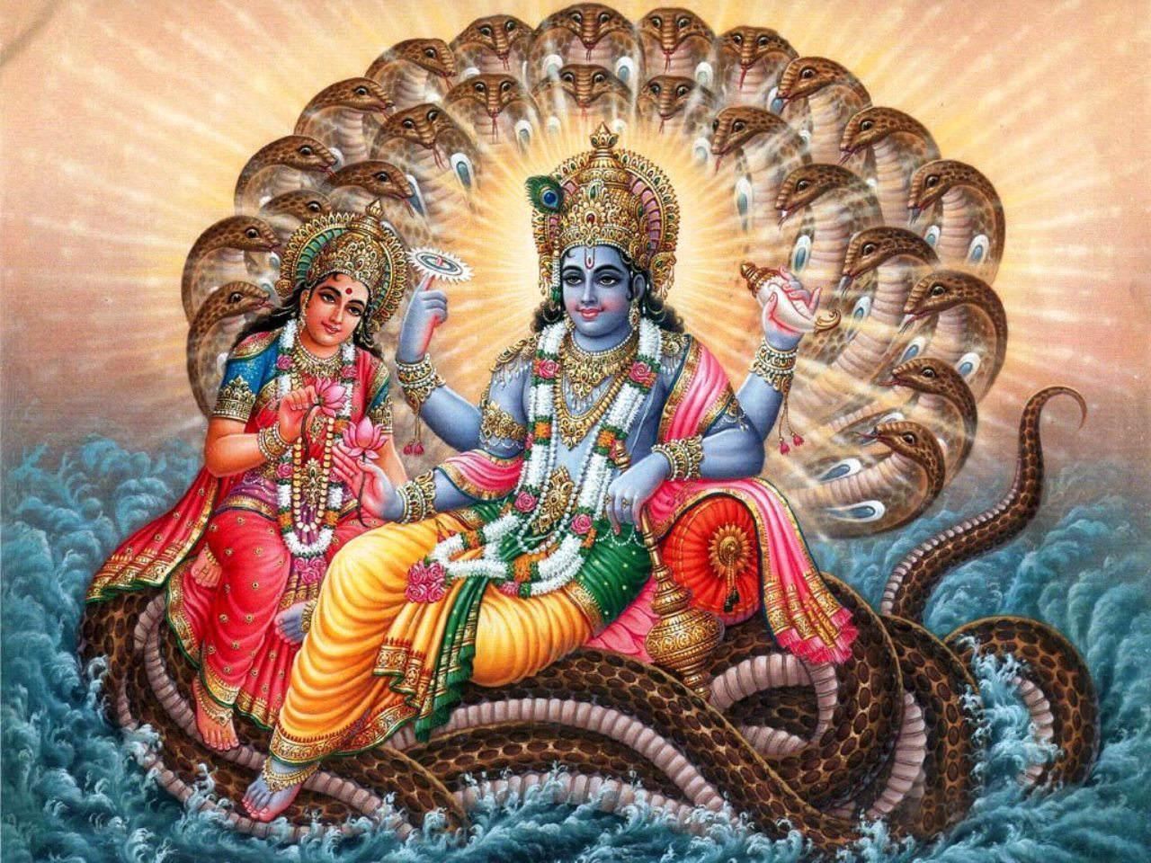 Lord Vishnu Laxmi Sheshnag Ji wallpaper