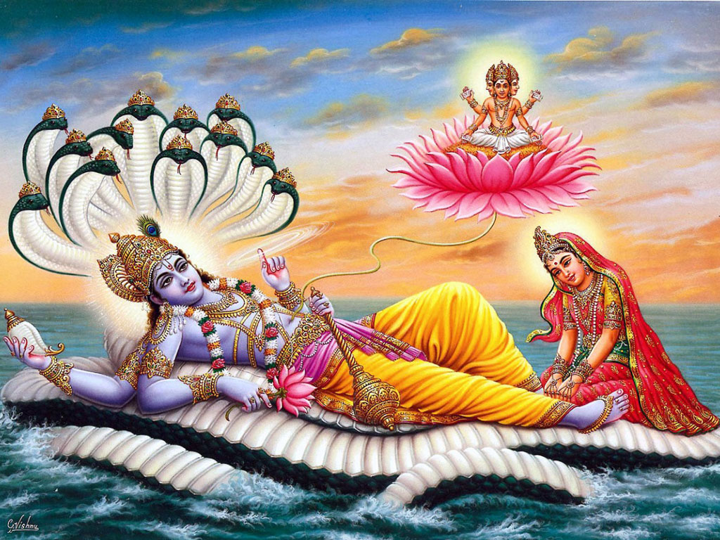 Lord Vishnu Laxmi Ji wallpaper