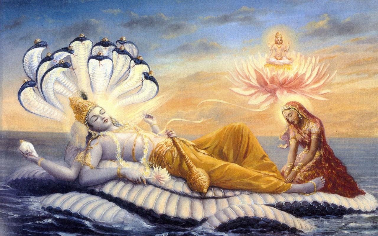Lord Vishnu Laxmi Ji wallpaper