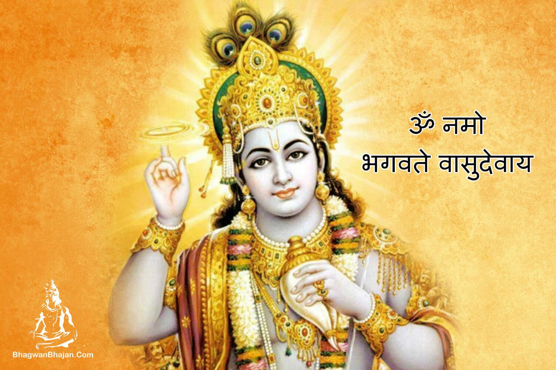 om namah bhagwate vasudevay vishnu bhagwan wallpaper