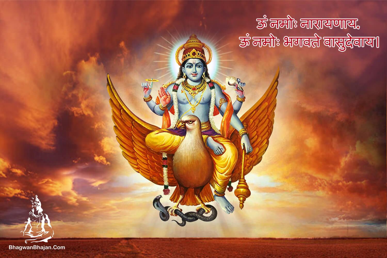 om namah narayana bhagwan vishnu wallpaper
