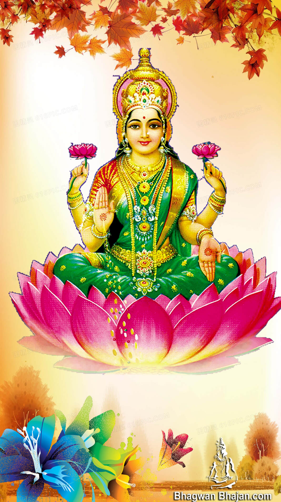 Dhanteras celebration pray to goddess lakshmi and ganesh