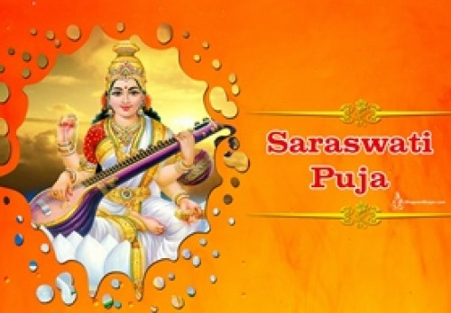 Book Saraswati Puja: Devotion for Knowledge and Success online on bhagwabhajan.com