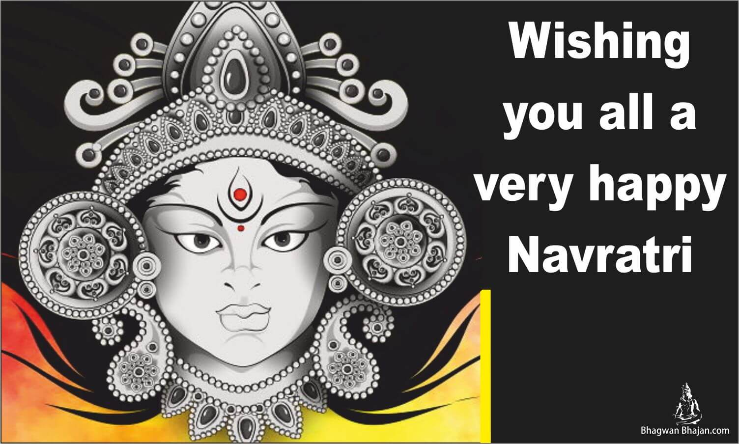 happy navratri post and wallpaper