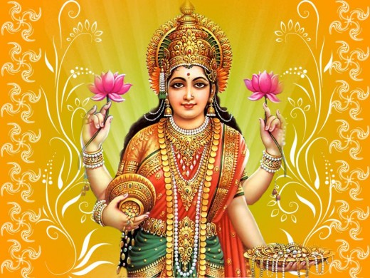 Goddess Laxmi Wallpaper of Diwali