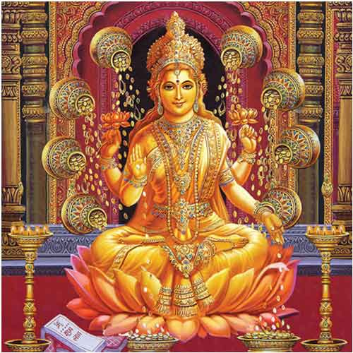 Maa Laxmi Golden Wallpaper