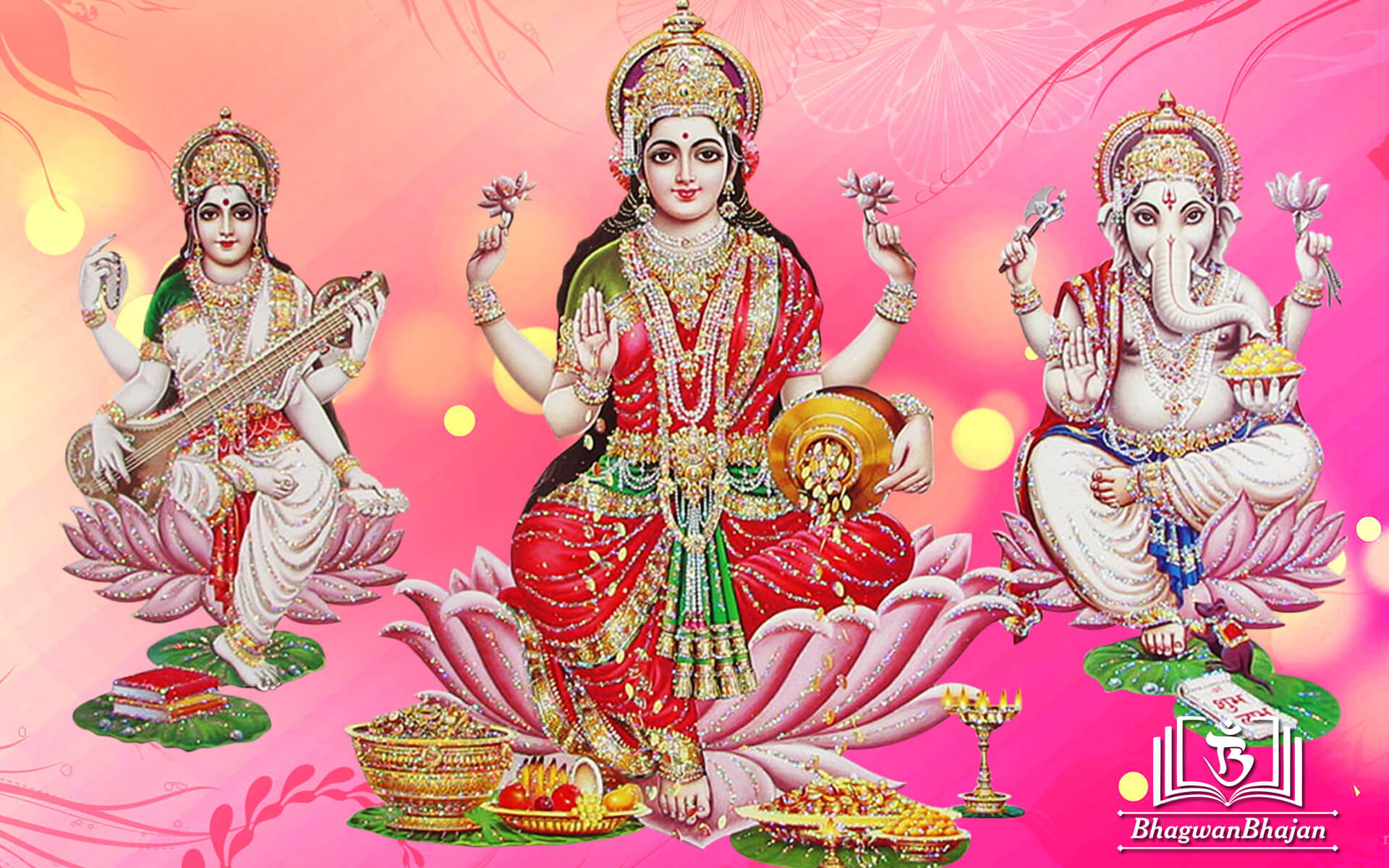laxmi ganesh saraswati latest hd wallpaper
