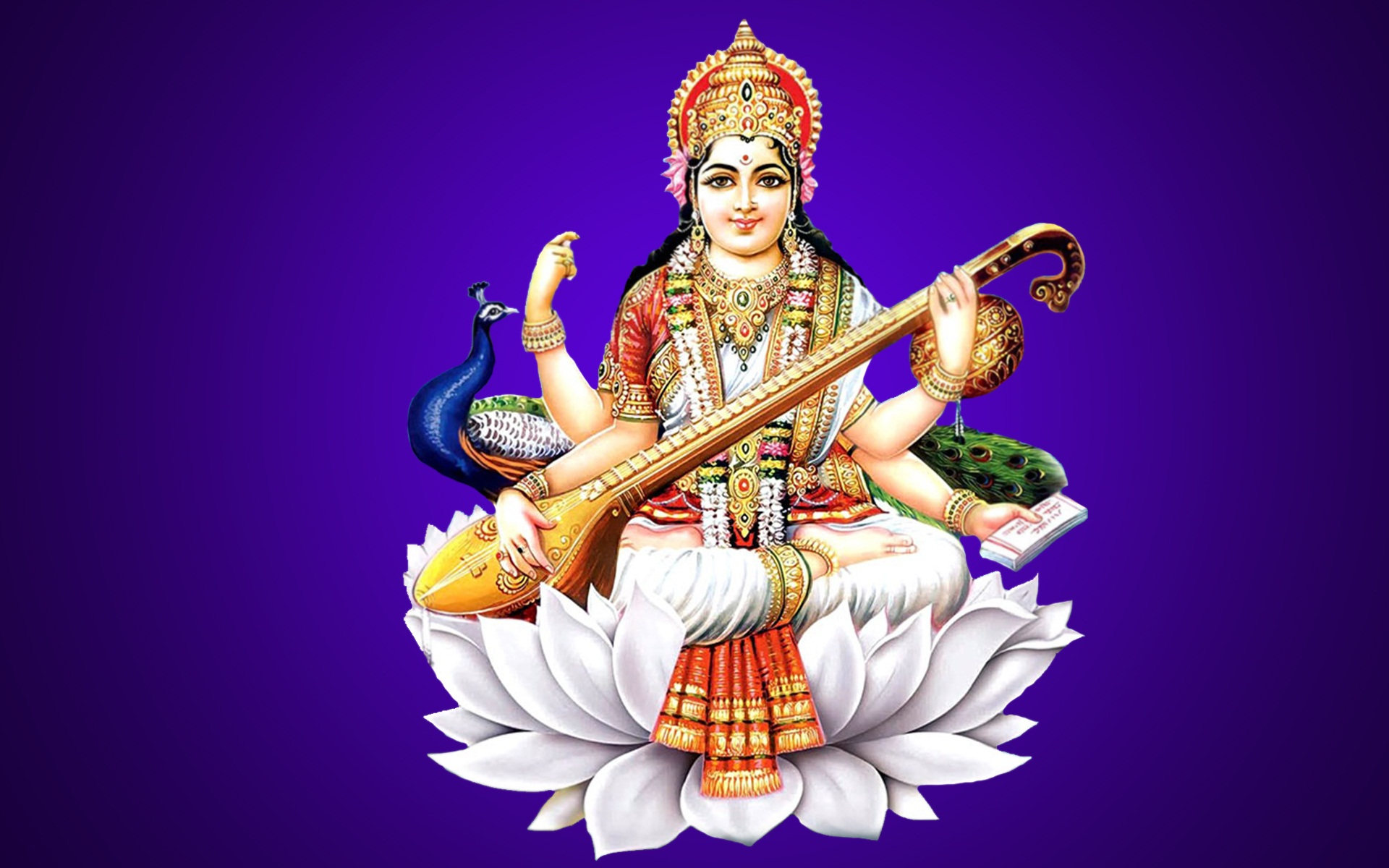 Maa saraswati chalisa in english Cover picture