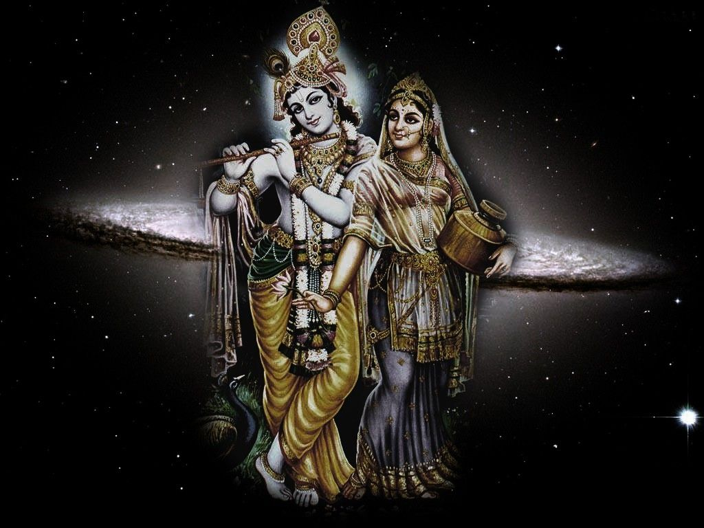 bhagwan shri krishna with radha image