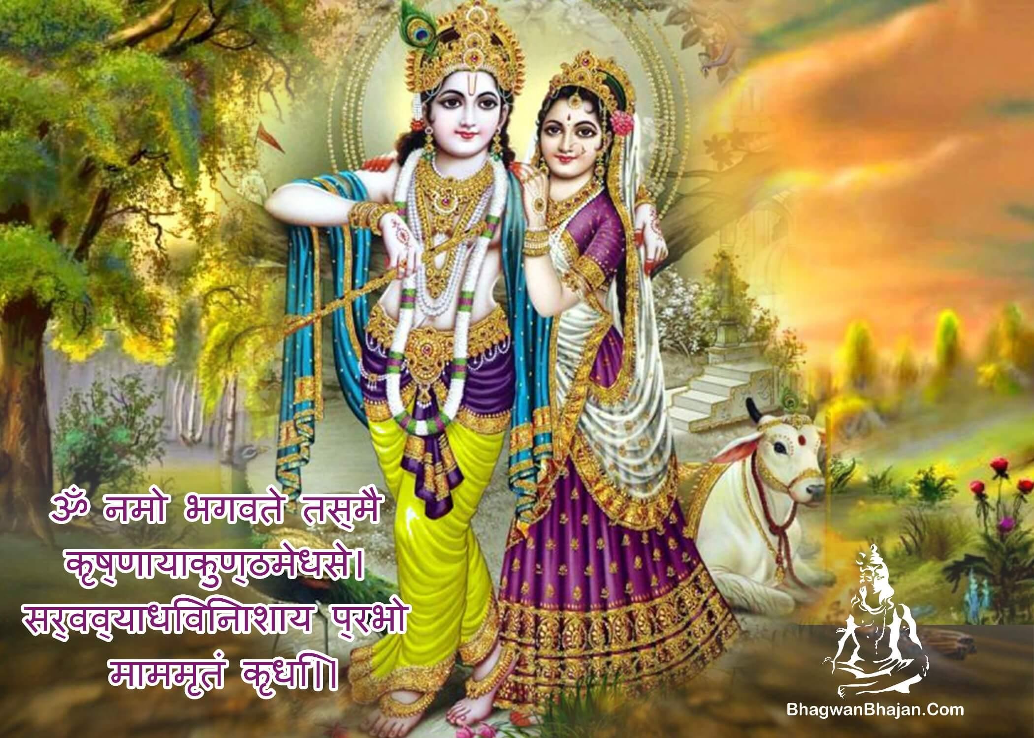 bhagwan shri krishna om namah bhagawate wallpaper
