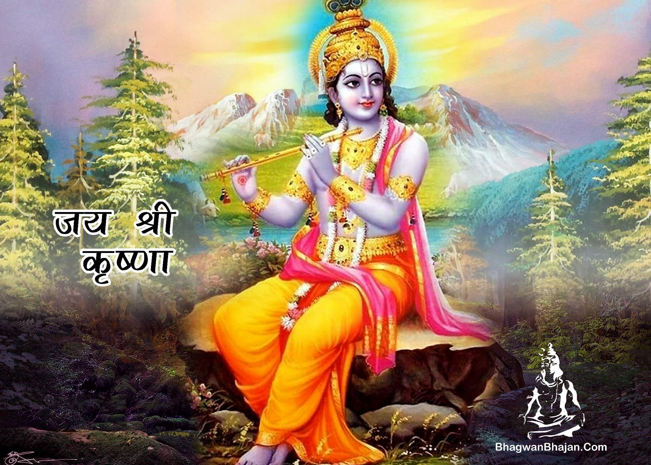 jai shri krishna hd wallpaper