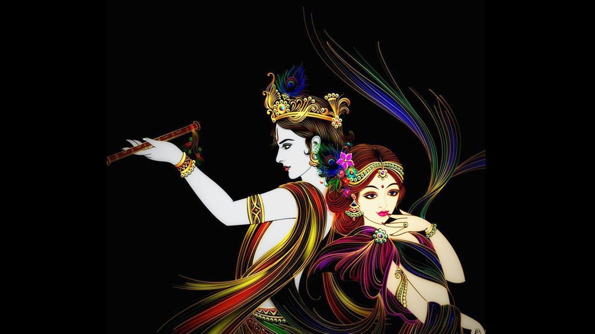 bhagwan shri krishna radha wallpaper