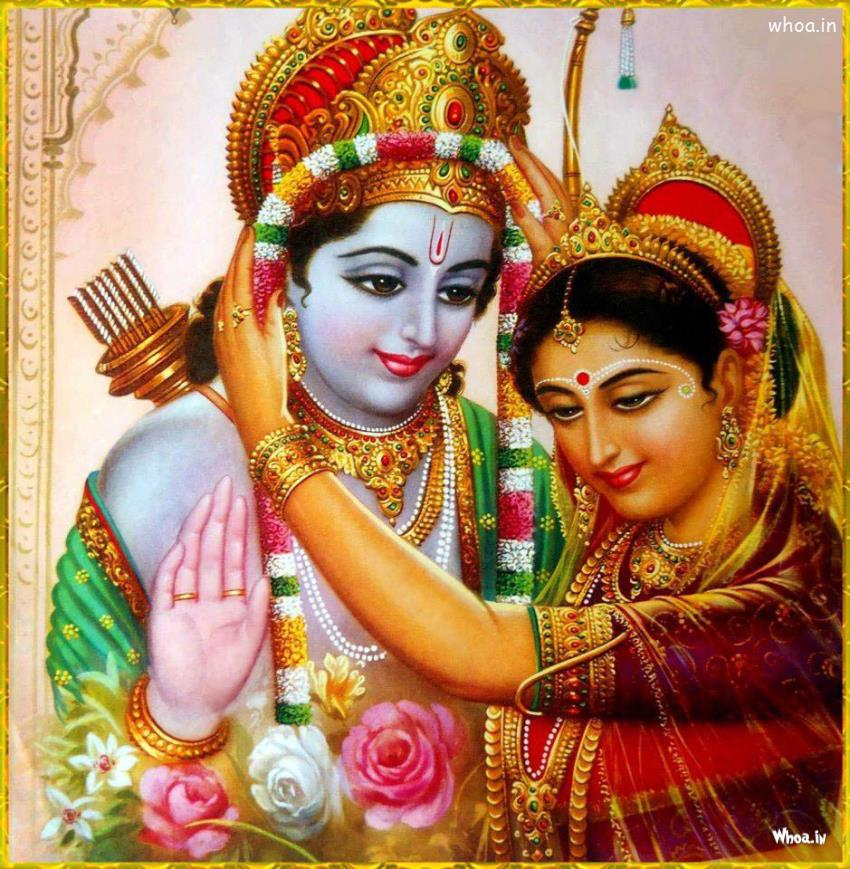Lord Shree Ram and Mata Sita Wedding wallpaper