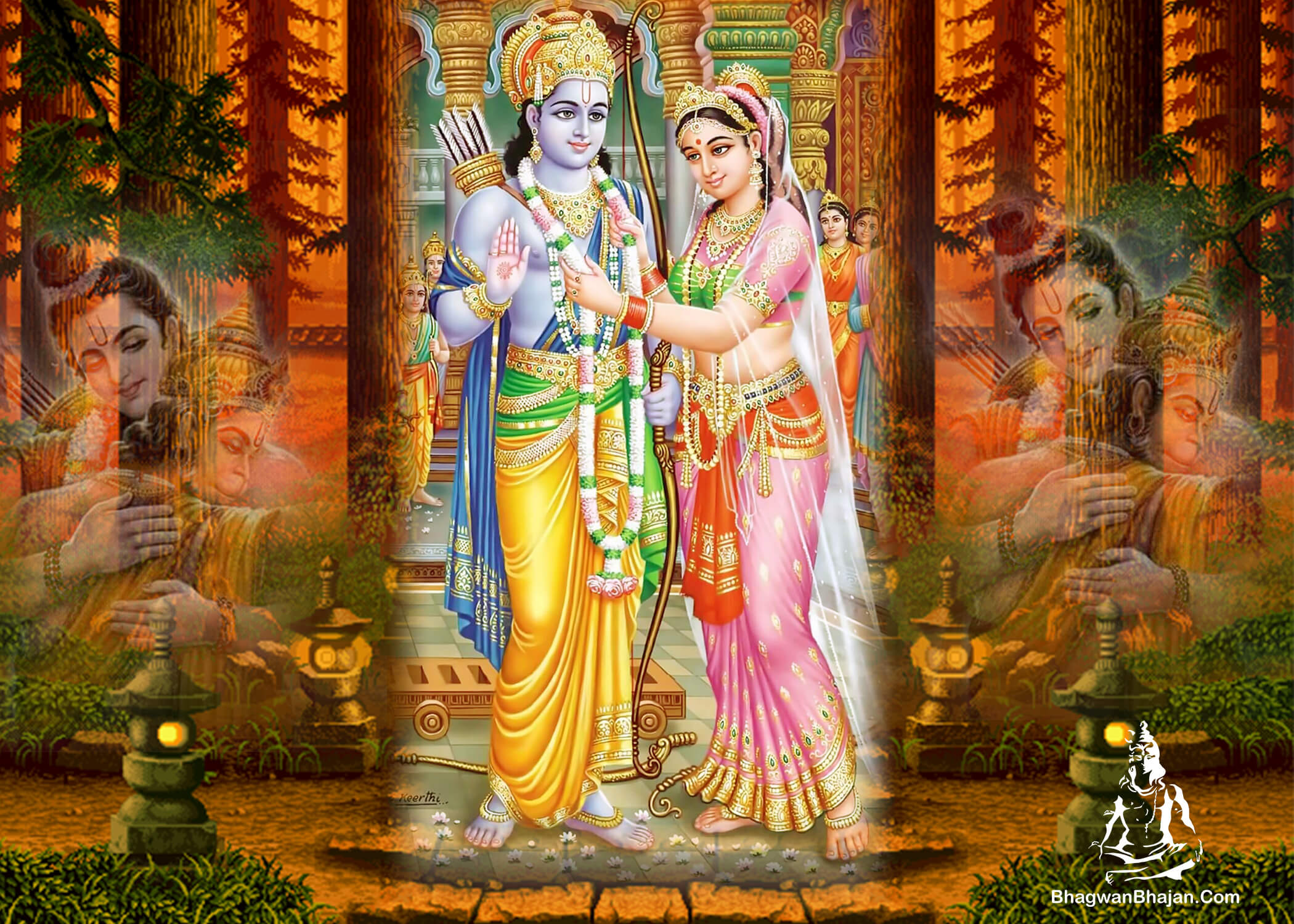 bhagwan ram and mata sita best wallpaper
