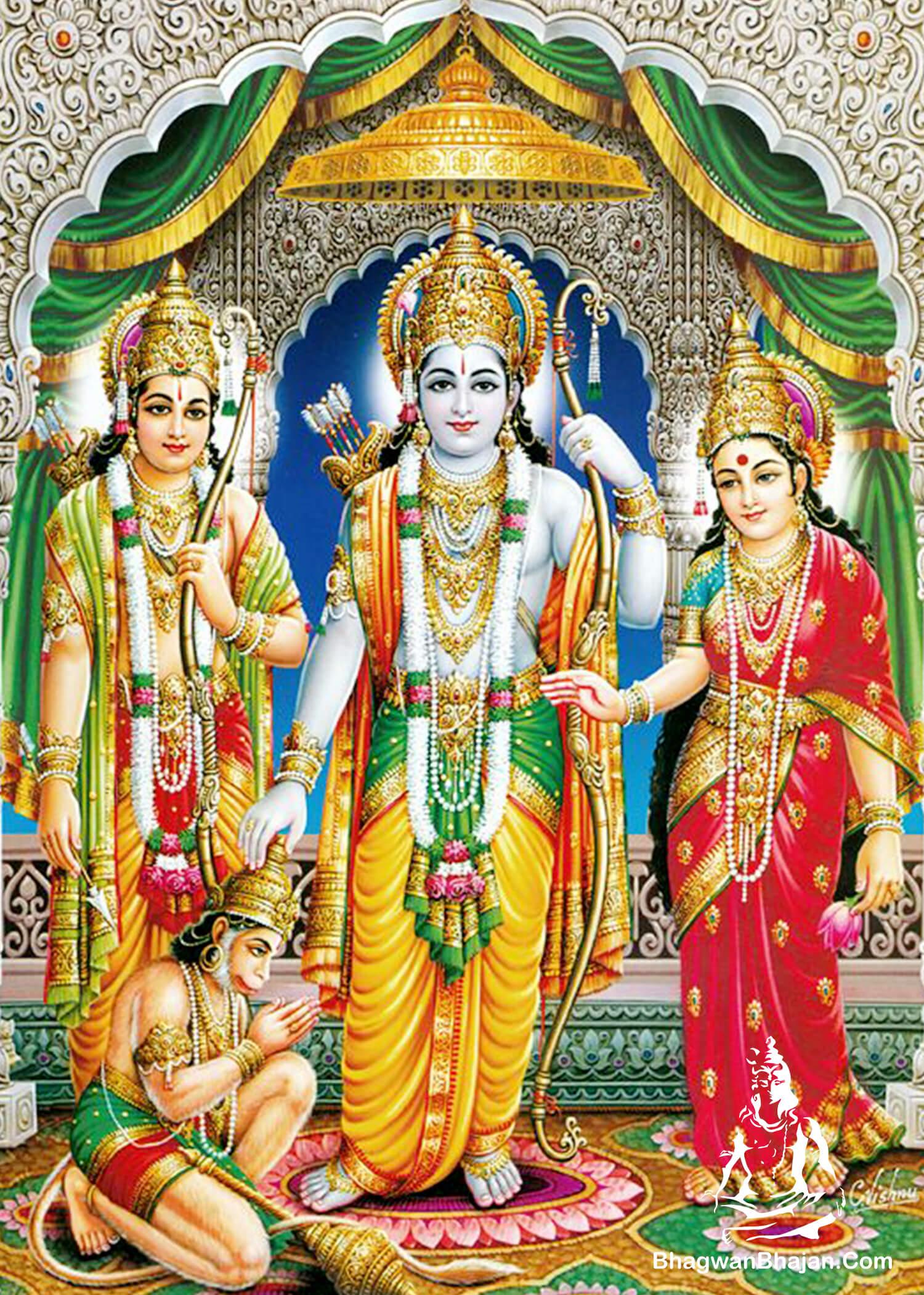 bhagwan ram mata sita hanuman picture
