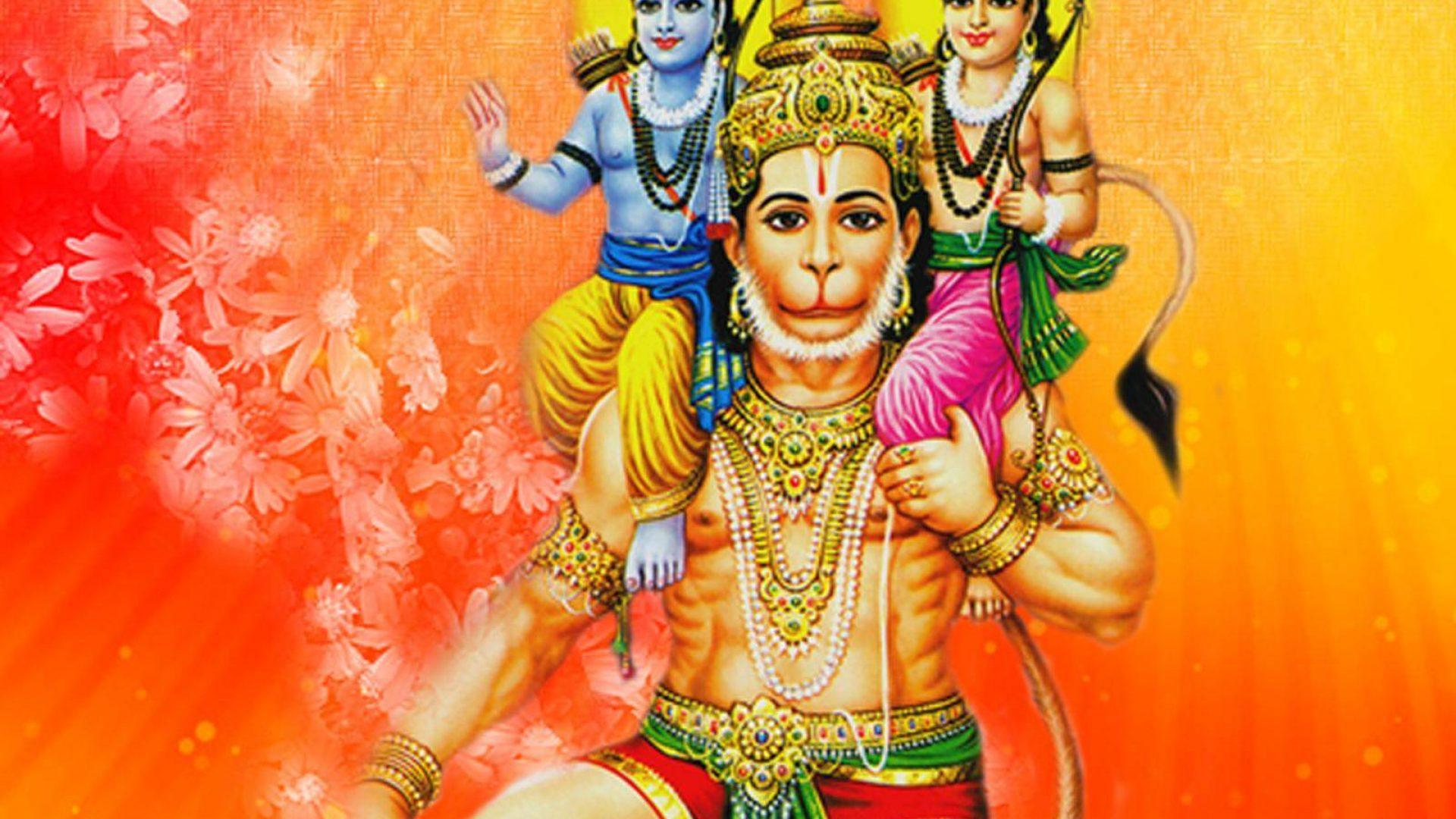 shri ram ji and lord hanuman wallpaper
