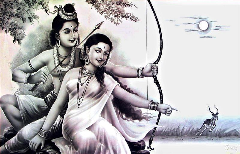 bhagwan shri ram with mata sita wallpaper