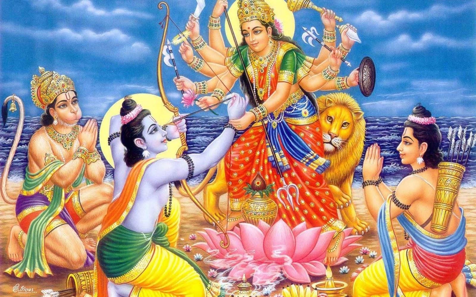 bhagwan shri ram lakshmi puja wallpaper