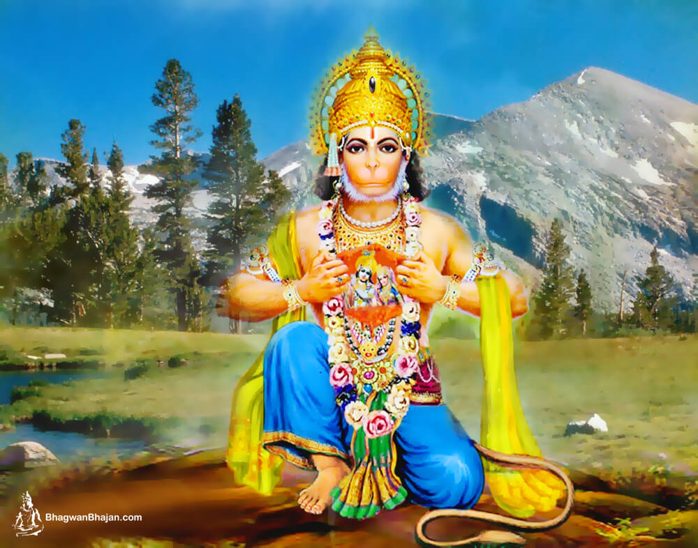 Hanuman Ji with Ram ji and Laxman God Wallpapers