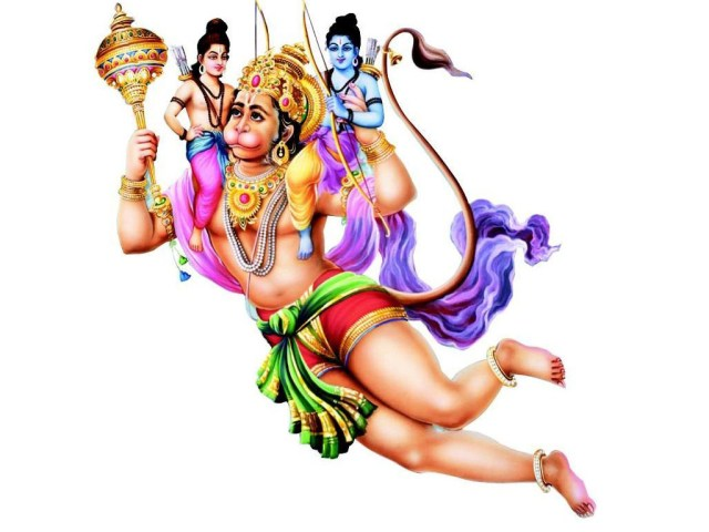 Hanuman Ji with Ram ji and Laxman God Wallpapers